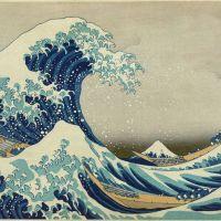Katsushika Hokusai · La amenaza suspendida