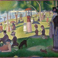 Georges Seurat · La utopía naranja verde púrpura