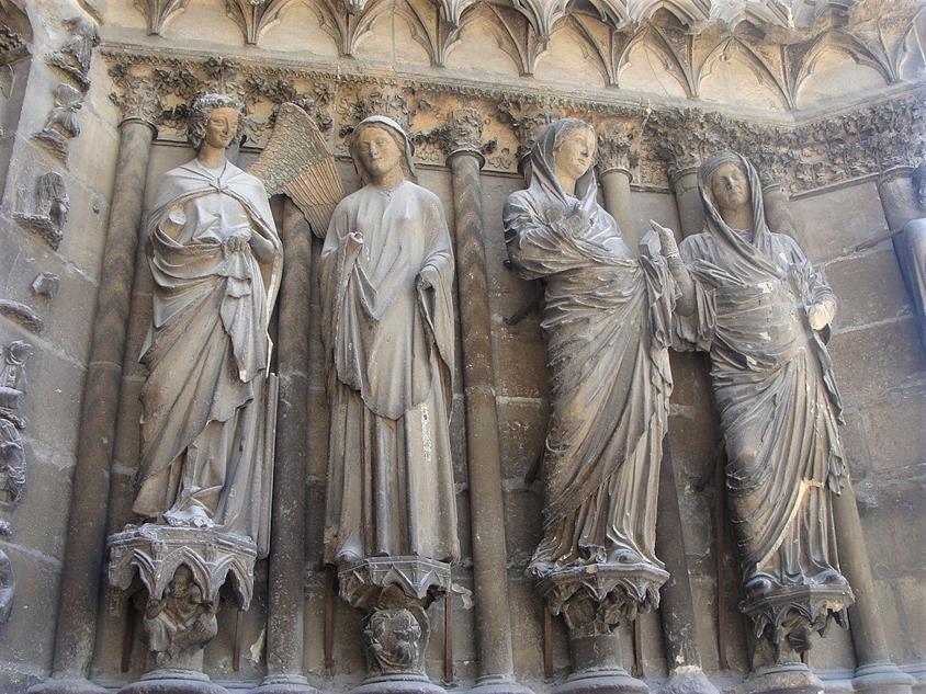 Reims_Cathedral_-_anunciacion y Visitacion